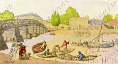 Rowlandson painting of the Second Bridge