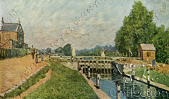 Sisley painting of Molesey Lock